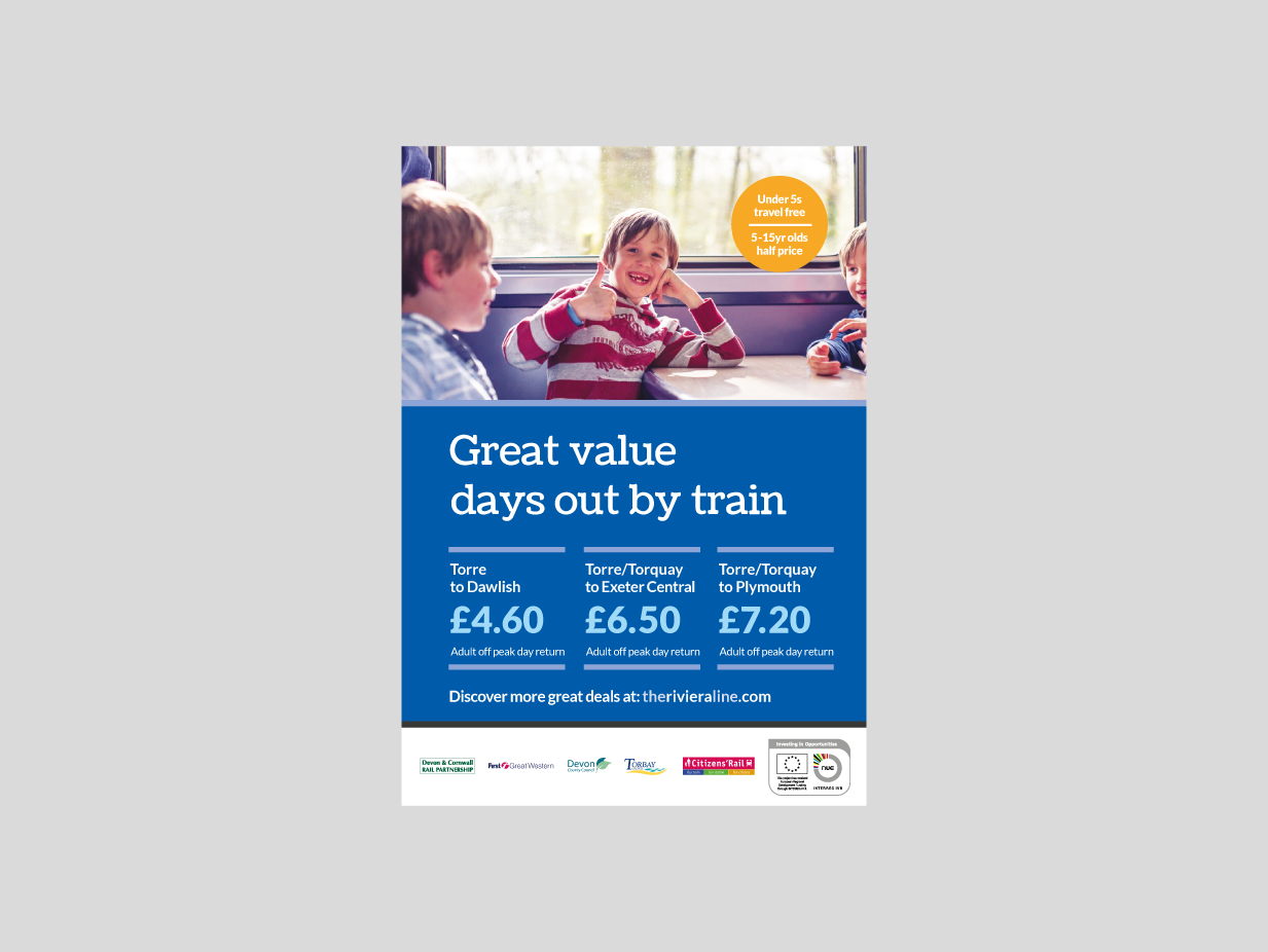 Marketing campaign to help riviera line to bounce back for Door 2 door leaflets
